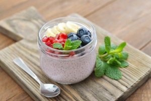 yogurt-chia-seeds-and-fruit-in-glass-jar